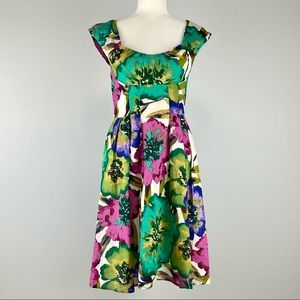 Calvin Klein Floral Sleeveless Fit and Flare Dress